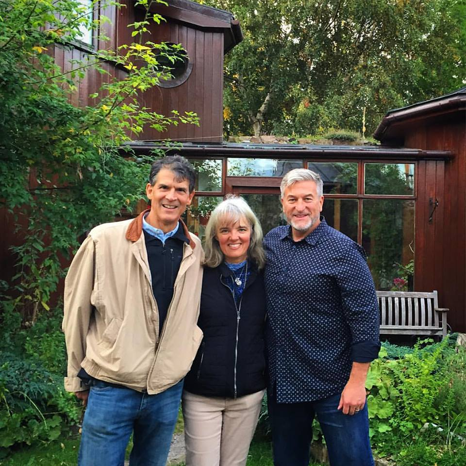 """We Do Not Die"" Findhorn, Scotland U.K. - Left to Right; Eben Alexander III, MD (Neurologist, New York Times Best Selling Author/Speaker), Karen Newel (Co-Founder, Sacred Acoustics), Jeffery C. Olsen."