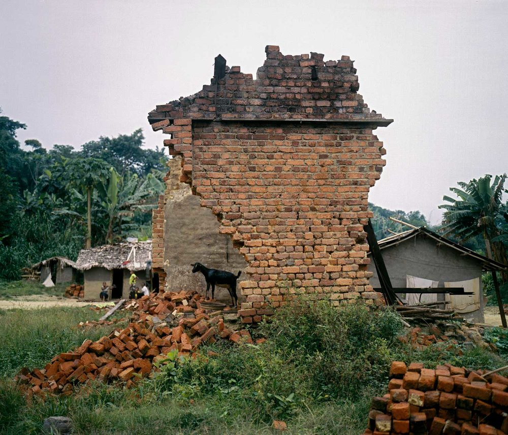 Decaying Belgian colonial era structures speak to the area's history of mining, and to Congo's struggles with outsiders who vied for its riches. Lulingu was a central site for Belgian colonial mining operations until the 1960s. After independence, the Belgians returned as contractors and remained in the area until 1988. It is one of the two biggest points in the province for cassiterite mining, and was thus a key site for mining during Belgian colonial times.  The town still benefits from certain infrastructure set in place by the colonial enterprises, such as very basic electrical power lines and a river dam. Dec. 29, 2013. Lulingu, South Kivu, Democratic Republic of the Congo.