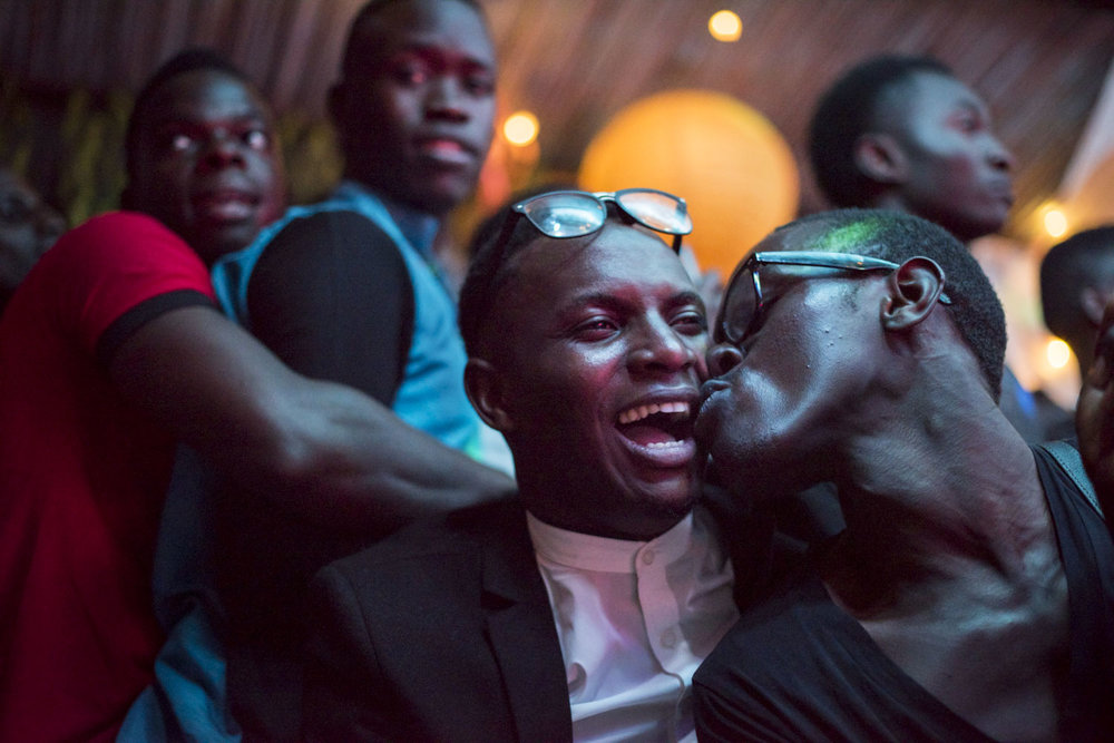 The audience watches and celebrates at the Mister and Miss Pride competition. Kampala, Uganda. August 7, 2015.
