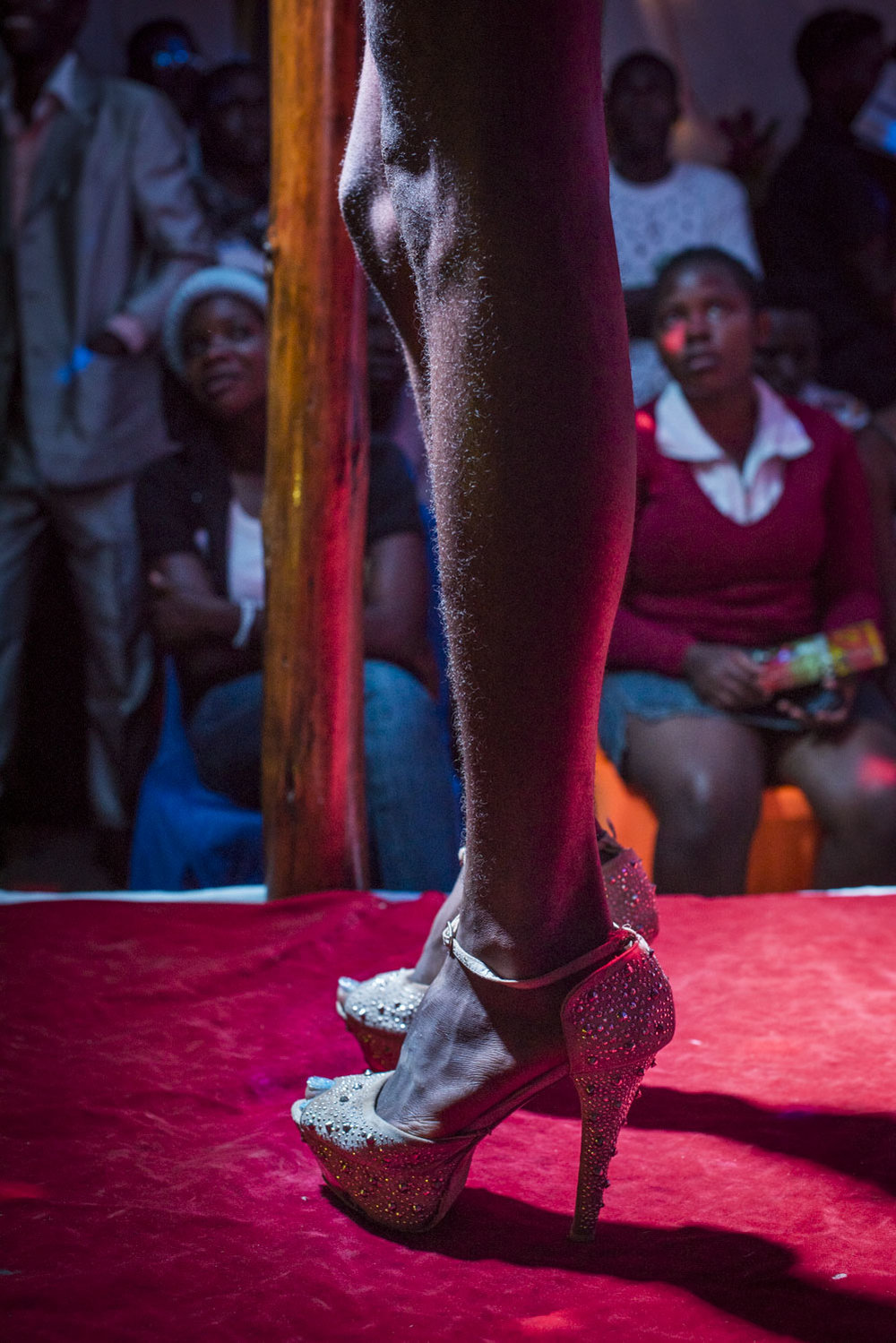 Contestants compete in the Mister and Miss Pride competition. Kampala, Uganda. August 7, 2015.