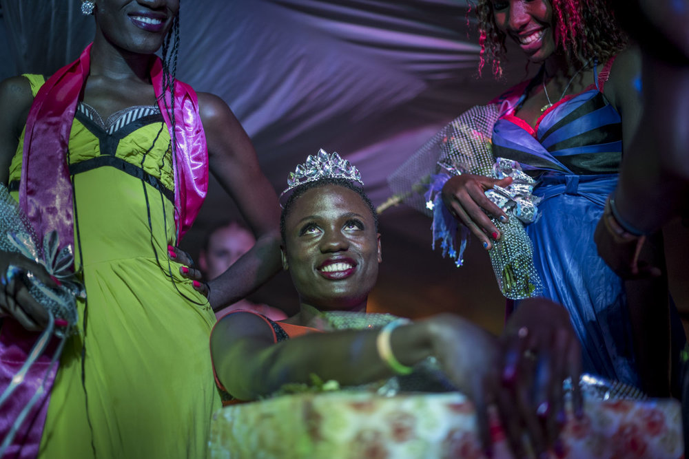 Miss Pride Uganda is announced and crowned. Kampala, Uganda. August 7, 2015.