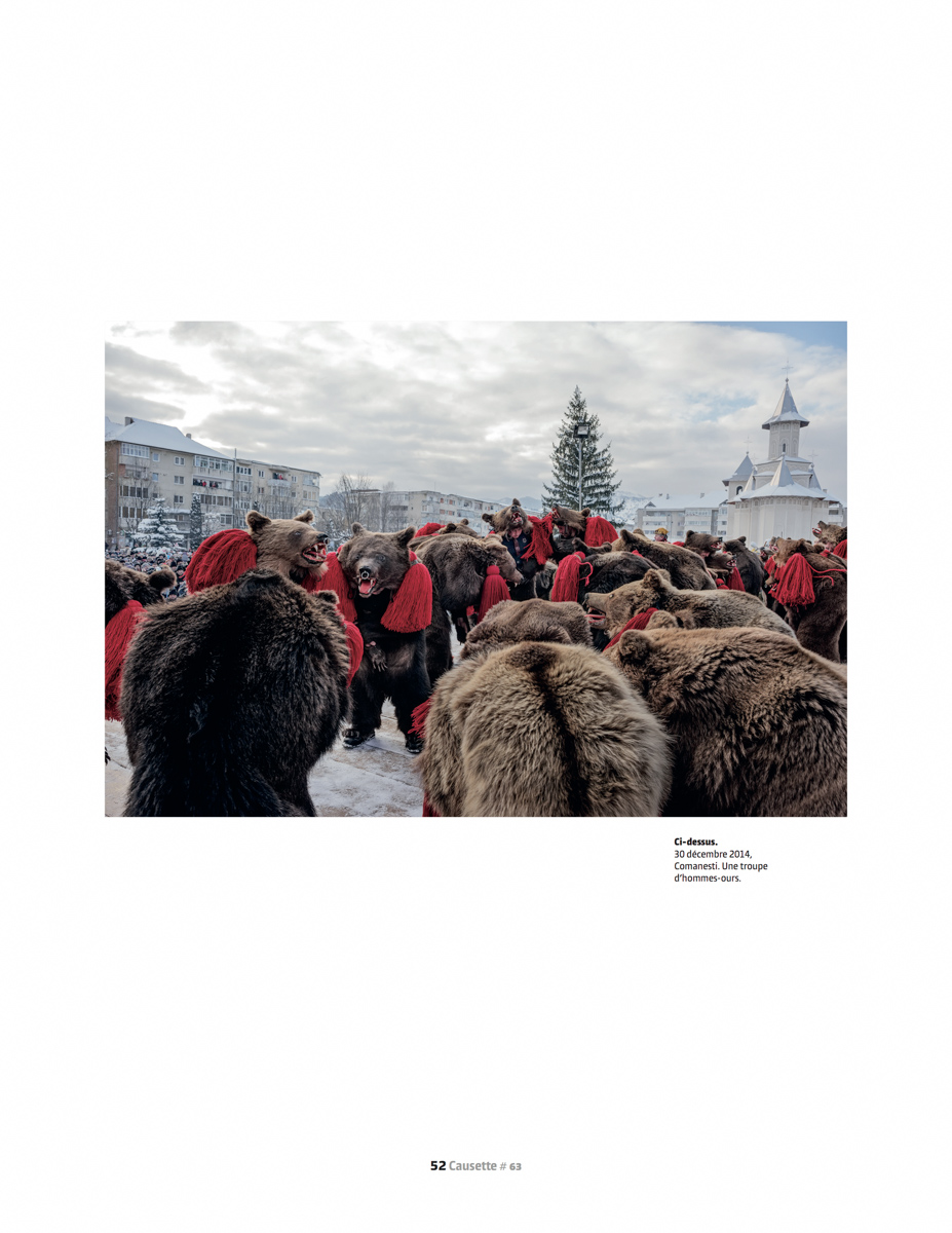 Portfolio: L'homme qui a fait l'ours  (Portfolio: The man who was a bear)  | Causette, Jan 2016, pages 48-52