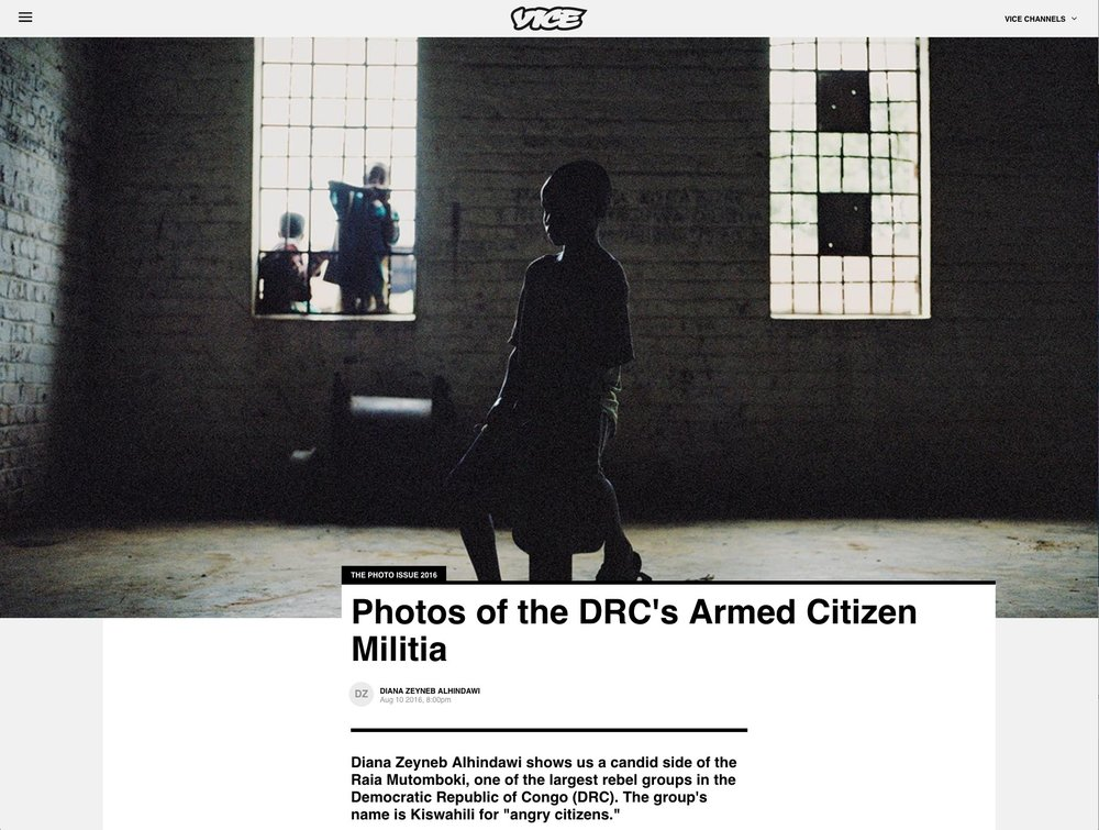 CLICK on title below to link to full article and gallery     Photos of the DRC's Armed Citizen Militia  | Vice, Aug 11, 2016