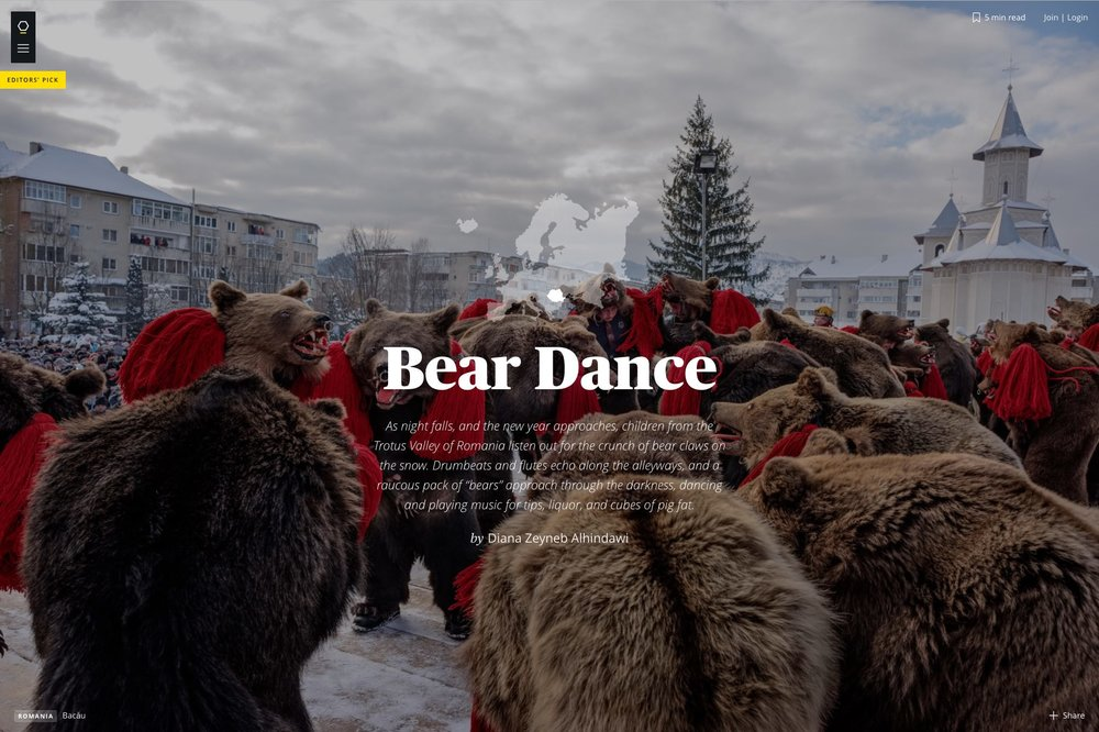 CLICK on title below to link to full article and photo essay     Bear Dance  | Maptia.com, Mar 2016