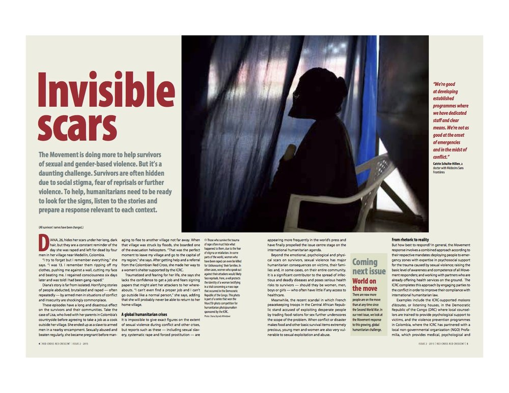 Invisible Scars  | Red Cross Red Crescent Magazine, Issue 2, pages 4-5, 2015