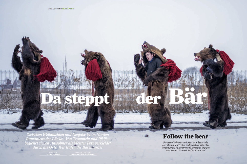 Da steppt der bar  (Follow the bear)  | Airberlin Magazine, Dec 2016, pages 4, 56-64