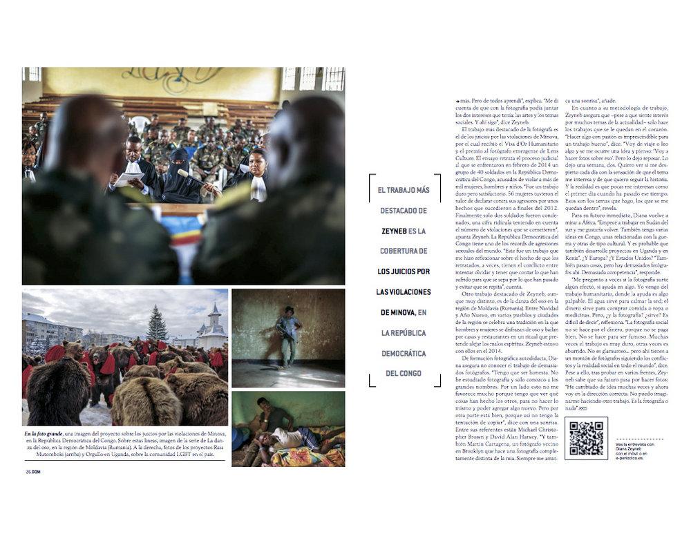 Diana Zeyneb |Dominical, el Periodico (print), page 24-27,Jun 19, 2016