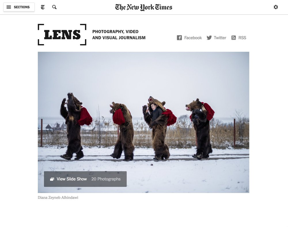 CLICK on title to link to full article     Romania's Dancing, Drinking Bears  | New York Times Lens Blog, Dec 2, 2015