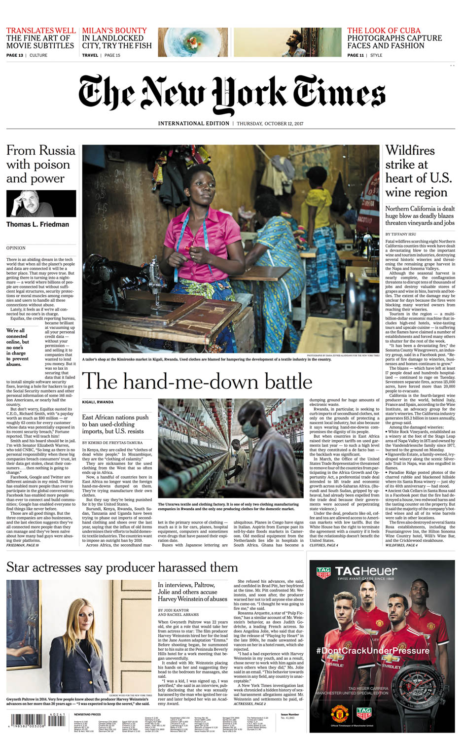 Diana Zeyneb Alhindawi_2017_10_12_International New York Times_page A1 front_rwanda africa clothing manufacturing agoa.jpg