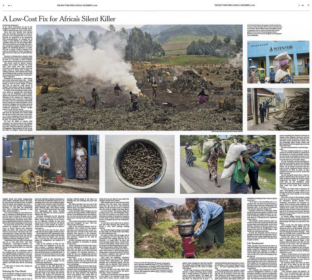 CLICK on title for online version     A Low Cost Fix for Africa's Silent Killer  | The New York Times, page BU8-9, Dec 9, 2018