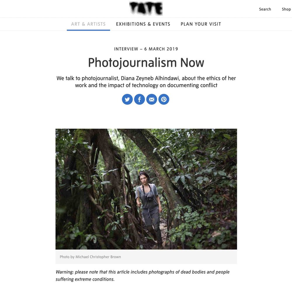 CLICK on title to link to full article     Photojournalism now  | Tate, Mar 6, 2019