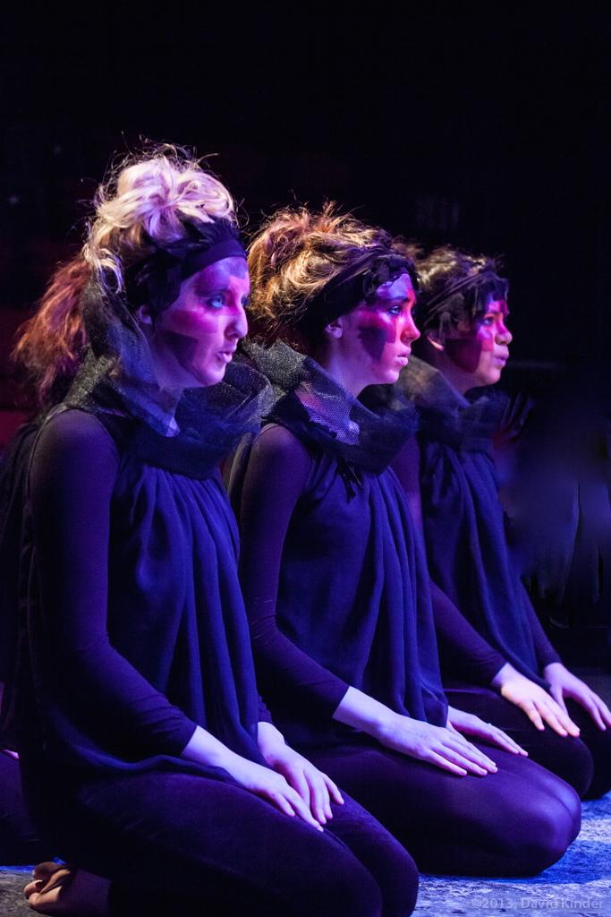 Members of The Fire (Bailey Olmstead, Fiona Woodman, Brynn Antaran) inBaptism