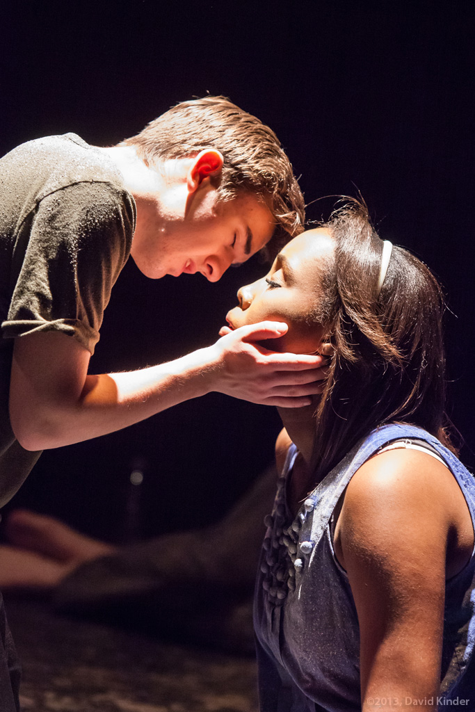 Tristan Comella as Manny and Tayler Harris as Lissa in  First Kiss