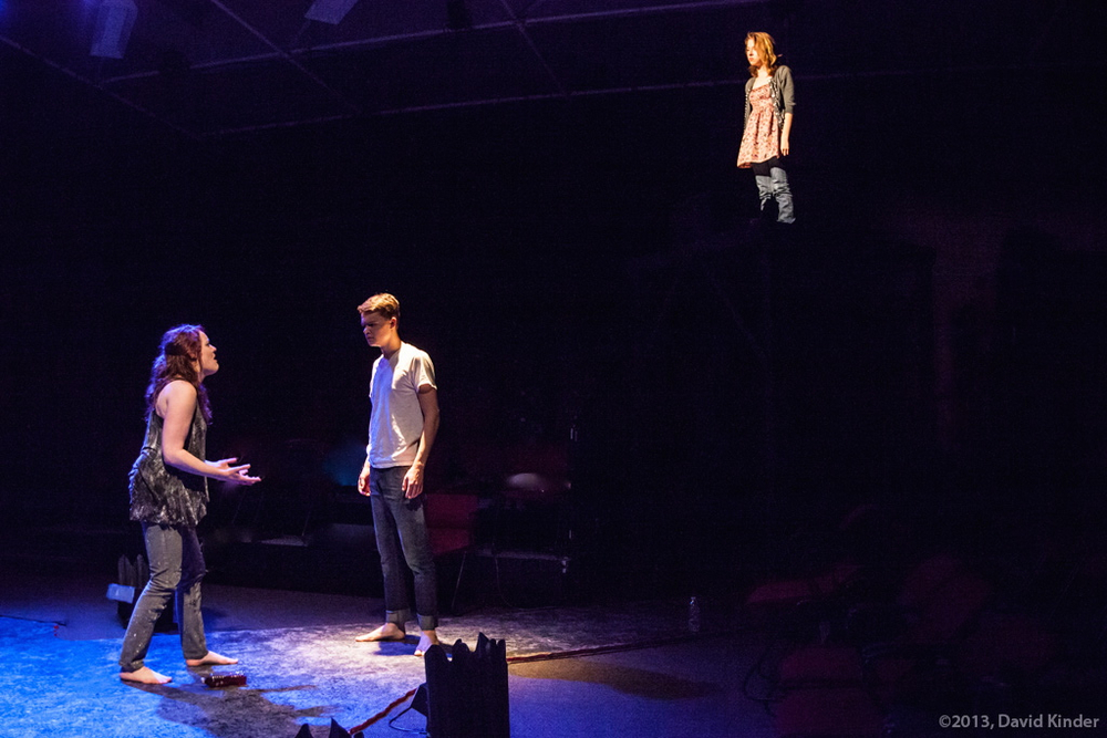 Jessica Tidd as Tess, Jacob Orr as Davin, and Amanda Munro as Jennifer in  Attack (2)