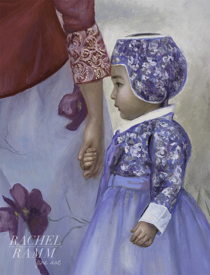 Hanboks in Red and Purple (detail)