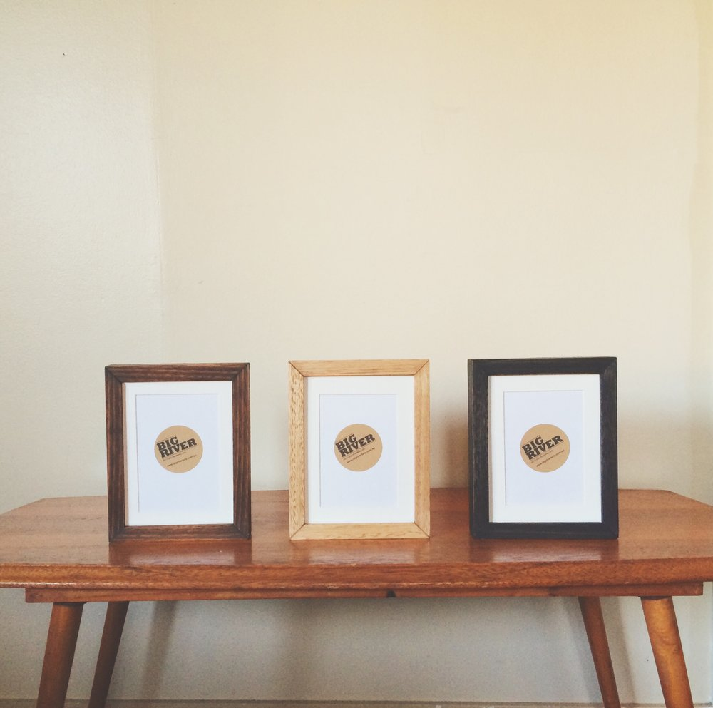 READY-MADE FRAMES — Big River Picture Framing | Custom Raw Timber ...