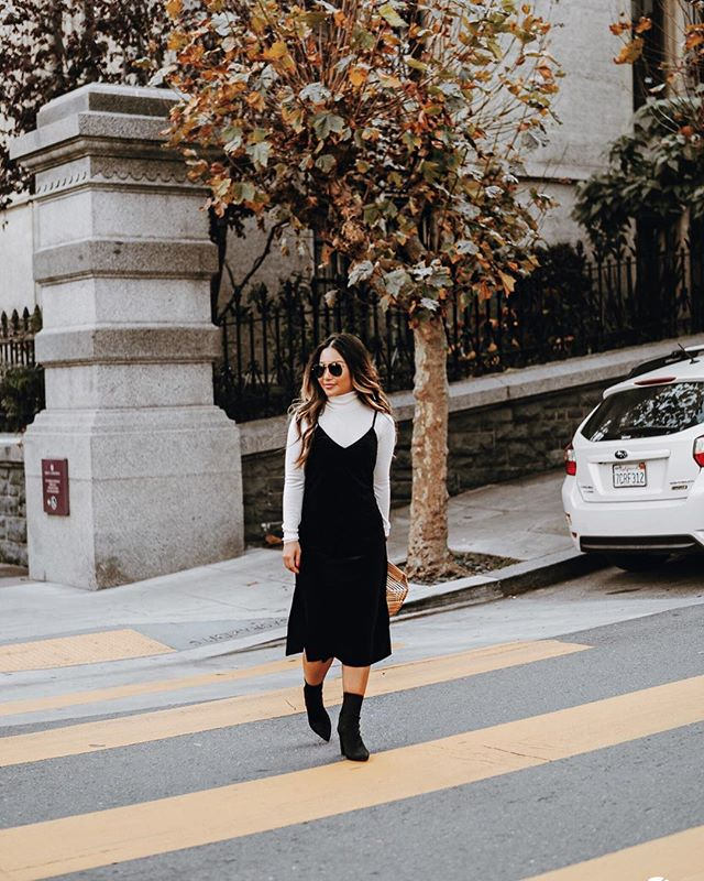 Velvet and slipdress, it's made for fall 💫 http://liketk.it/2tESY #liketkit #slipdress #castmejcrew #falllookbook @liketoknow.it Shop your screenshot of this pic with the LIKEtoKNOW.it app