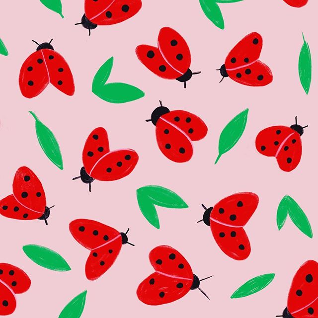 You there, Spring? Raise your hand if you're over winter! 🤚🏼 . . . . . . . #womenofillustration #artlicensing #pattern #spring #colorful #ladybugs #pink  #illustration  #illustrationoftheday #procreate #art #children #childrensbooks  #picturebooks #drawing #illustrated #handdrawn #mixedmedia  #sketcheveryday  #arteveryday #makeandcreate #instaart #creativity #kidslit #cute #kidslitart