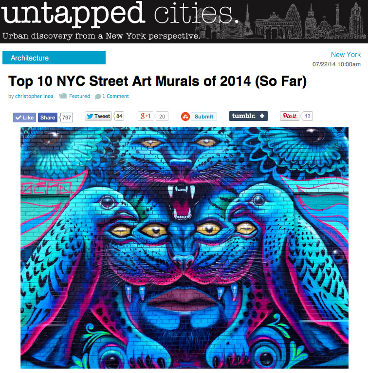 Werc x untapped cities top 10 street art mural 2014 so for Call for mural artists 2014