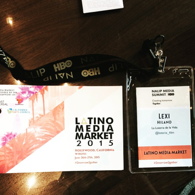 Two days of non-stop fun on the way. Proud to be a part of the Latino Media Market. ¡Vamos¡ @nalip_org #filmlife