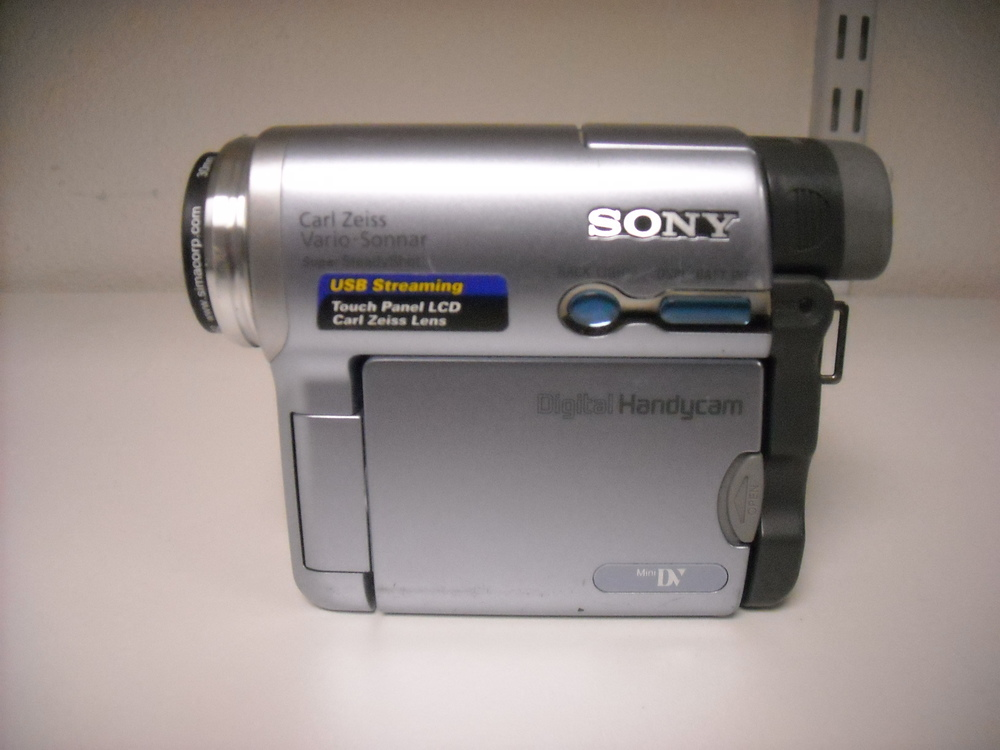 Sony – DCR-TRV19 - $185.00 Used on5/25/14 austin craigslist Recently cleaned and serviced by a professional technician. Everything functions like new. Just a wonderful little camcorder.  Compact MiniDV digital camcorder 10x optical, 120x digital, zoom with Super SteadyShot image stabilization 2.5-inch touch-panel color SwivelScreen LCD display for easy access to the entire camcorder menu NightShot O Lux infrared system for recording in total darkness