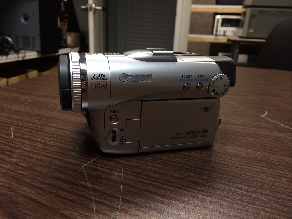 Canon - Optura 50 - $170.00   This is a wonderful little Mini DV camcorder. It's easy and fun to use. Recently cleaned and serviced by a professional technician. Everything functions like new. 30 day warranty!     1 3.4-inch CCD  16 - 9 Widescreen Mode  2.5-inch. TFT color screen  0.33-inch. TFT color viewfinder  Still image resolutions - 1632 x 1224, 1280 x 960, 640 x 480