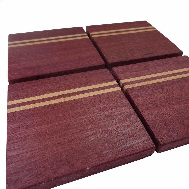 Wooden Coasters  Purpleheart. Wooden Coasters  Purpleheart   SJ WoodWorks