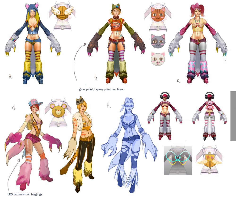 Concepts for Koshka's tier skin.