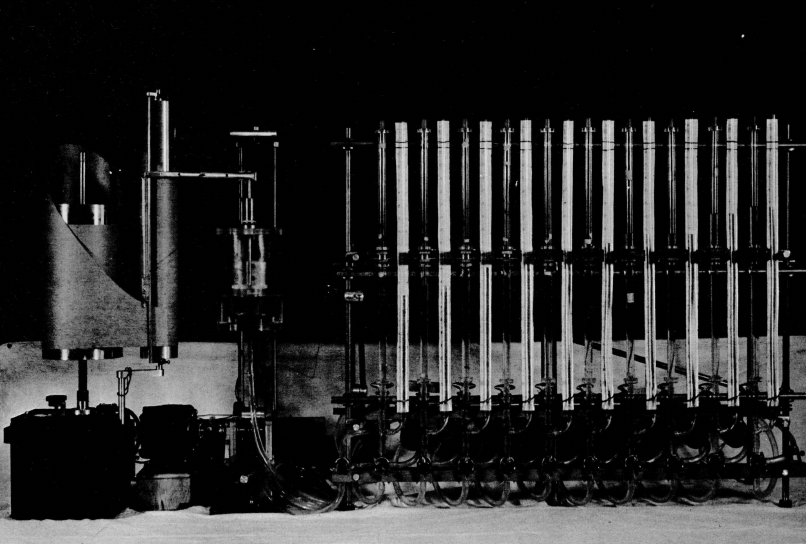 Picture of the Hydraulic Analog Computer developed at MIT [16]