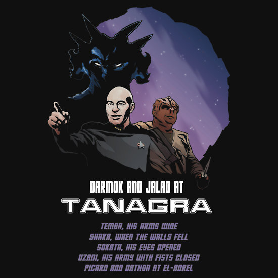 http://www.redbubble.com/people/dangerousdays/works/9026099-darmok-and-jalad-at-tanagra?p=t-shirt