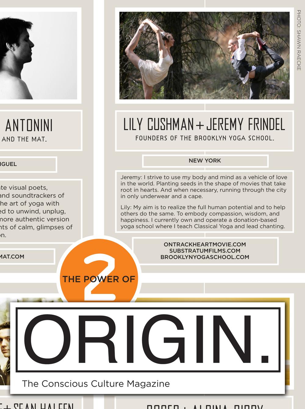 Origin Magazine Lily Cushman Jeremy Frindel