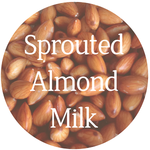 raw sprouted almond milk