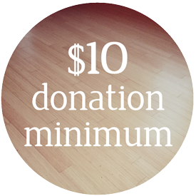 $10 Donation Minimum