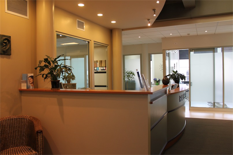 The reception at Bell Hill Dental.
