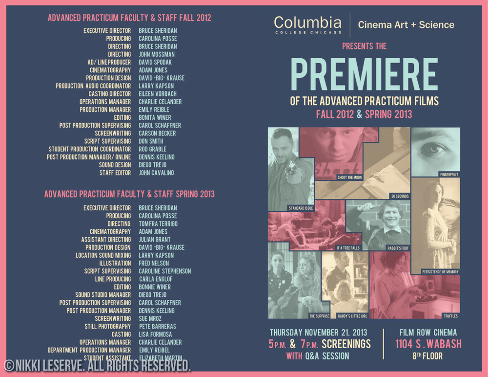 Columbia College Practicum Brochure (Outside)