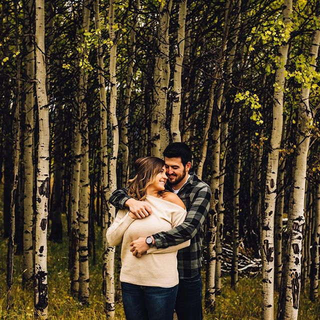 Check out this cool 😎 couple in front of these cool trees 🌳. Engaged in 2018 and getting married in 2019!