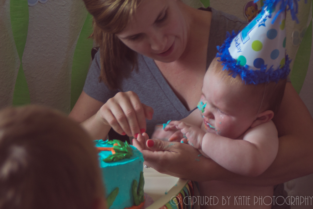 Momma and Her Cakey Boy by Captured By Katie Photography, Bonney Lake Photographer
