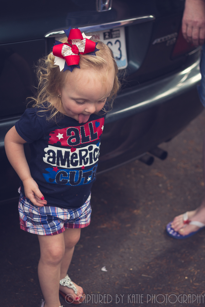 Fourth Of July Maddie By Captured By Katie Photography, Bonney Lake Photographer