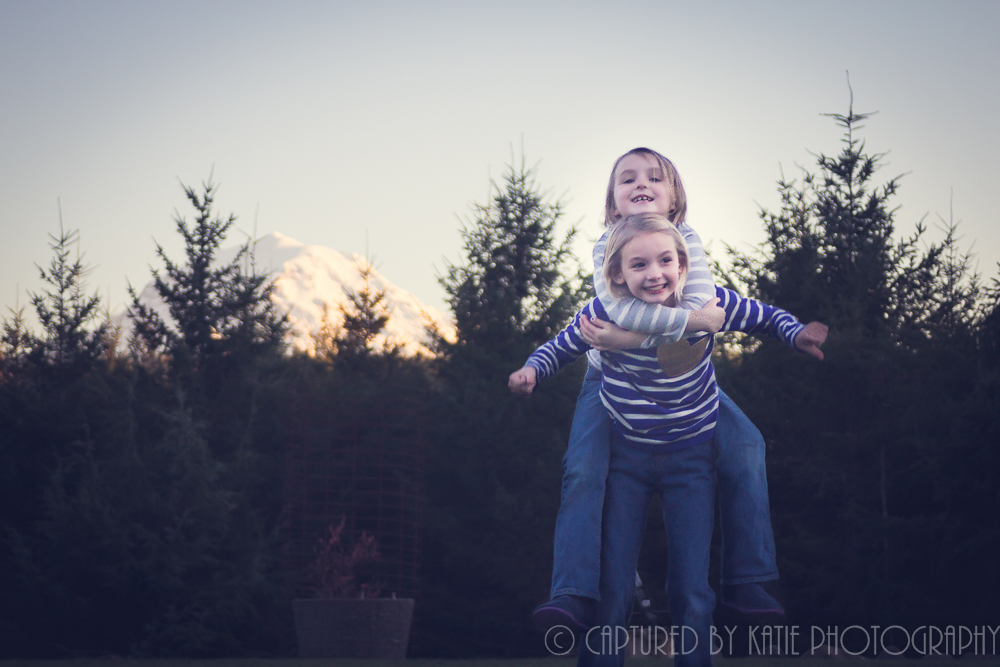 Sister Love By Captured By Katie Photography, Bonney Lake Photographer
