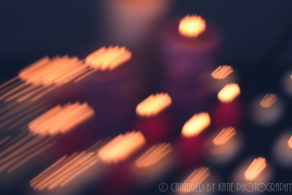 Candle Bokeh By Captured By Katie Photography, Bonney Lake Photographer