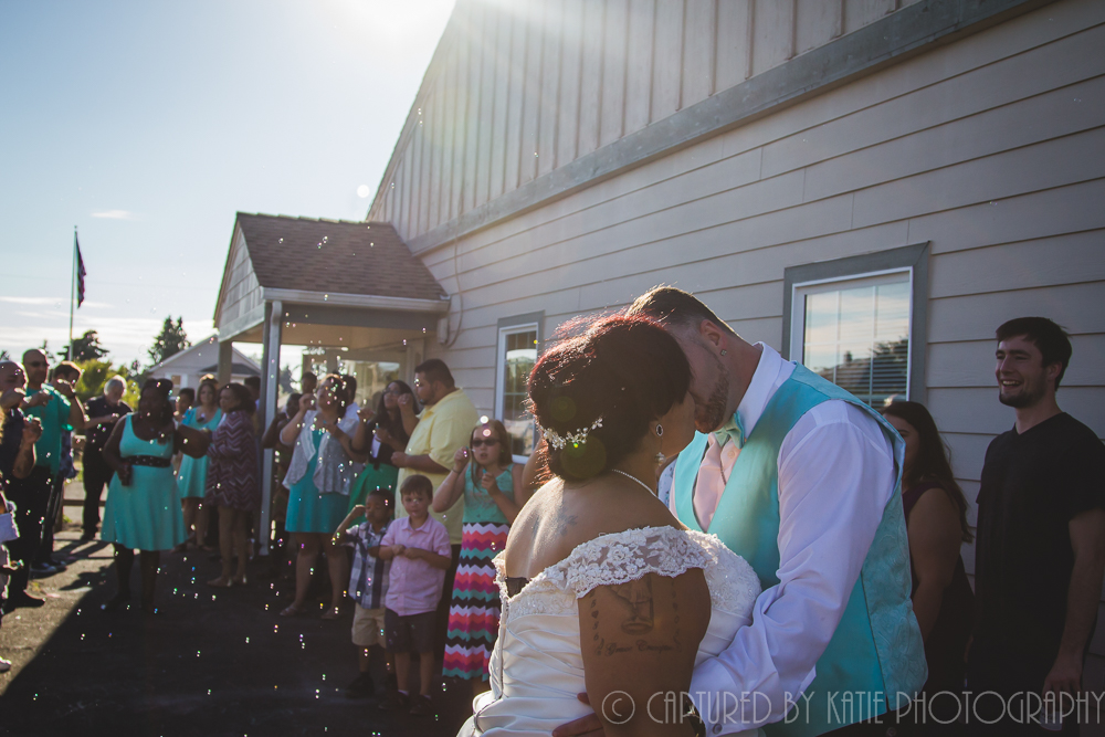 Bubble Send Off By Captured By Katie Photography, Bonney Lake Photographer