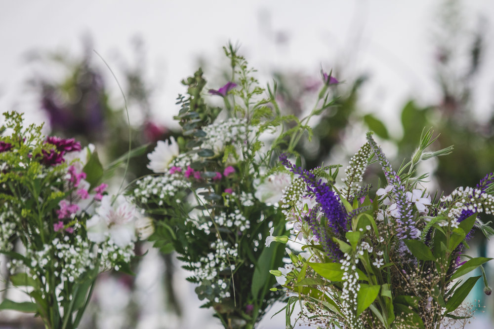 Floral Centerpieces by Captured By Katie Photography, Bonney Lake Wedding Photographer