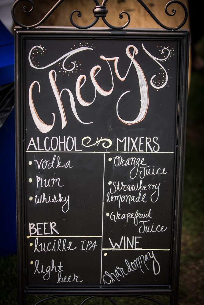 Drink Menu By Captured By Katie Photography, Bonney Lake Wedding Photographer
