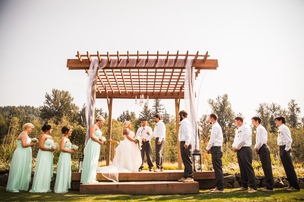 The Wedding Party By Captured By Katie Photography, Bonney Lake Wedding Photographer