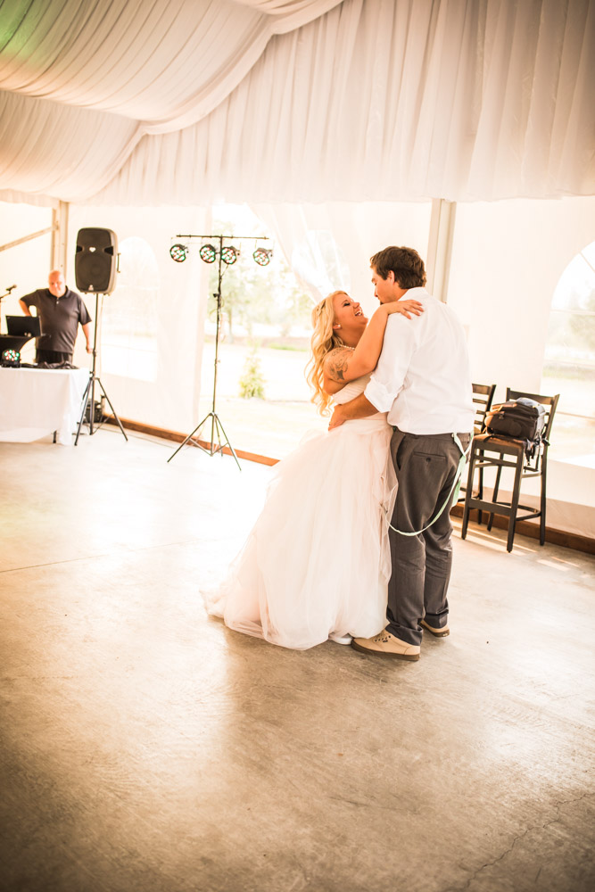 The First Dance By Captured By Katie Photography, Bonney Lake Wedding Photographer