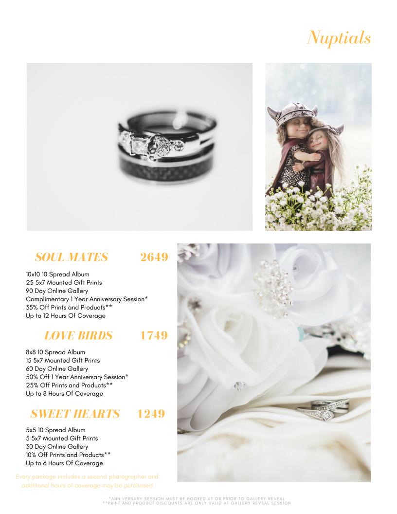 2018 Wedding Pricing
