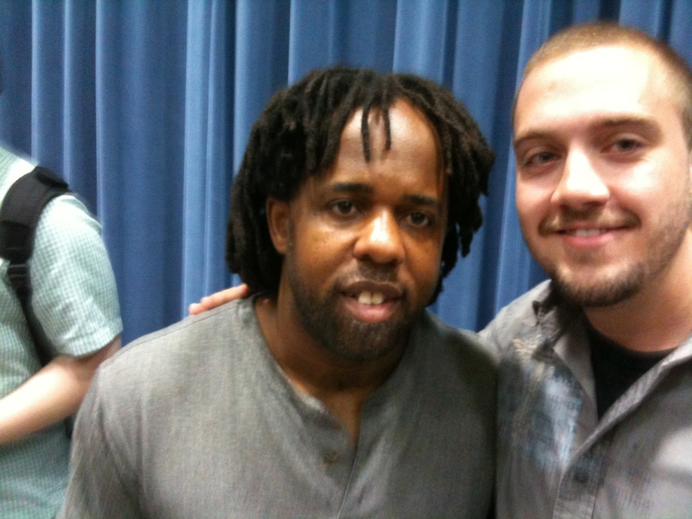 Zach with Bass Legend Victor Wooten