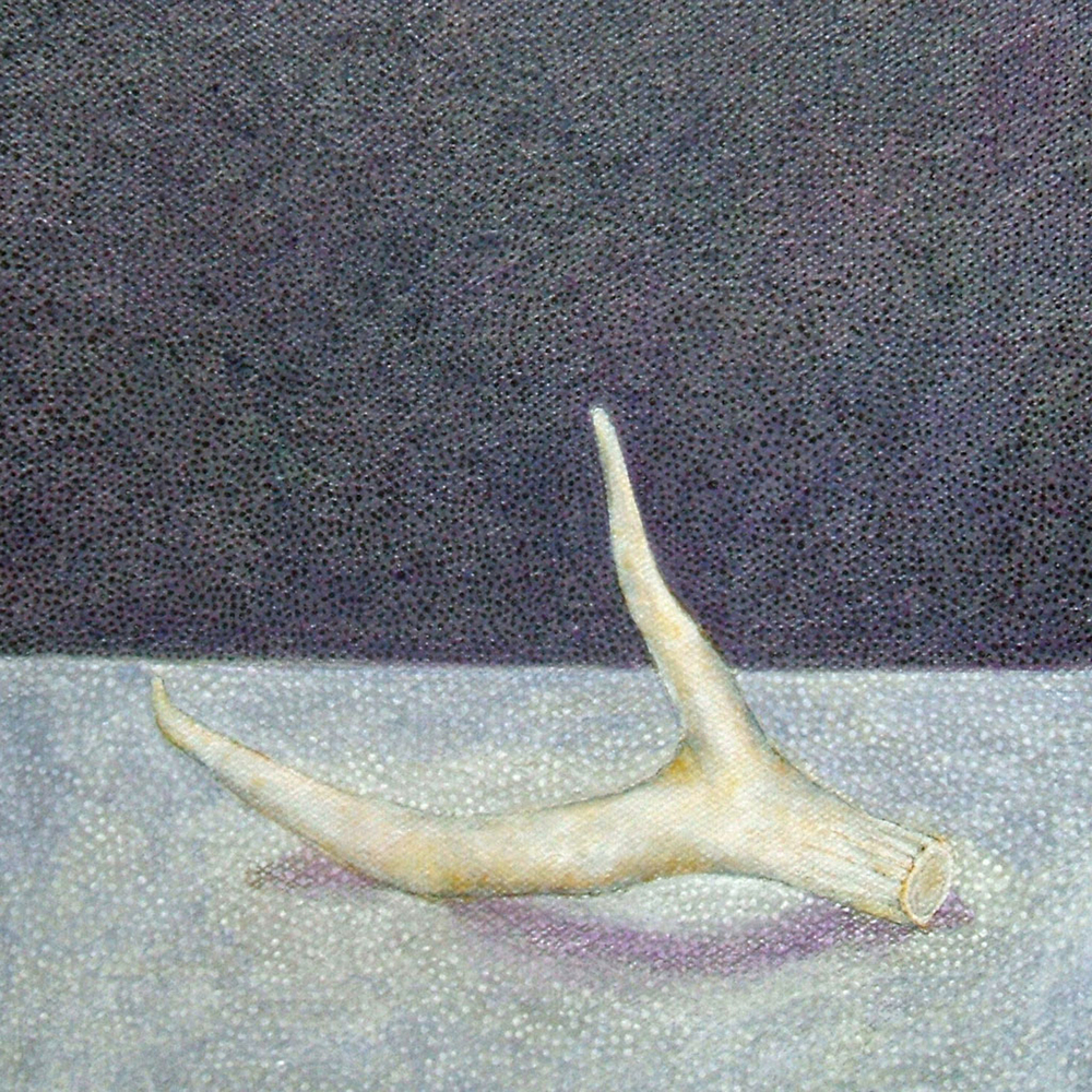 "Antler No. 4 , acrylic on canvas, 7.75"" x 7.75"""