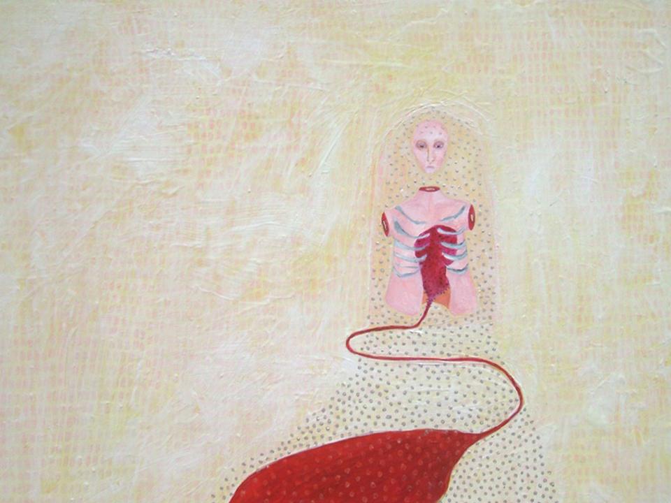 """Solitude , acrylic on panel, 16"""" x 20"""", 2009"""
