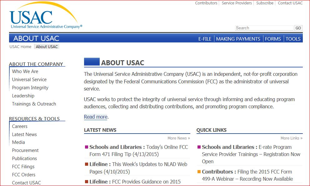 http://www.usac.org/about/